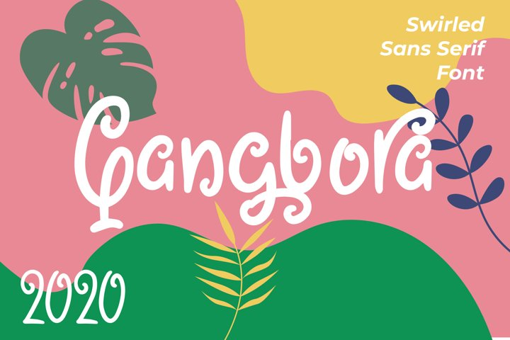 Qangbora - Swirled Fancy Fonts