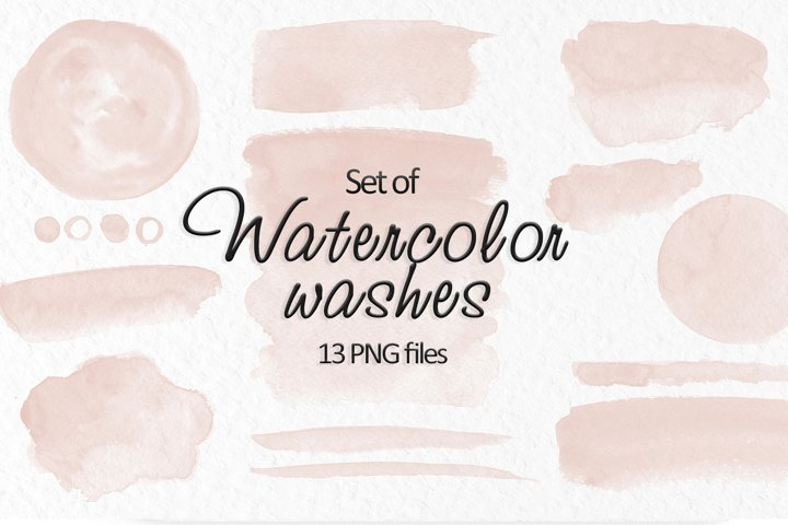Beige watercolor stains Neutral washes clipart