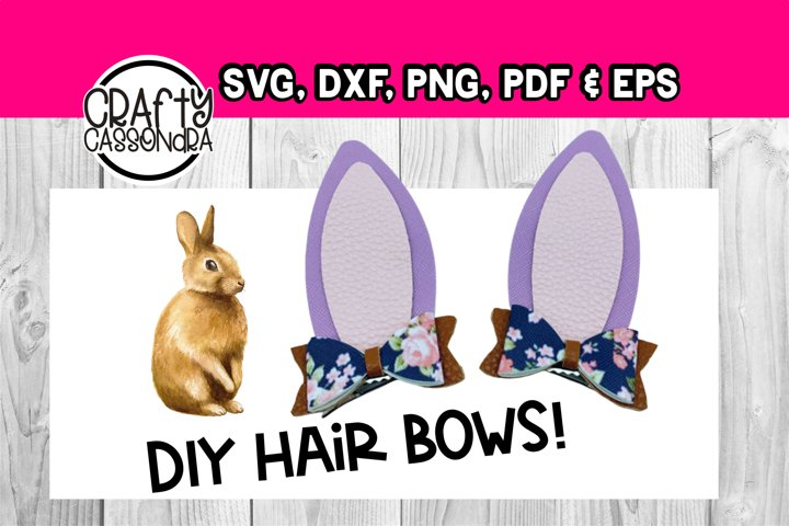 Template for making bunny ears with mini hair bows!