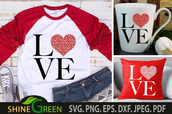 Valentines SVG - Love Animal Print Heart - Couple Gift SVG