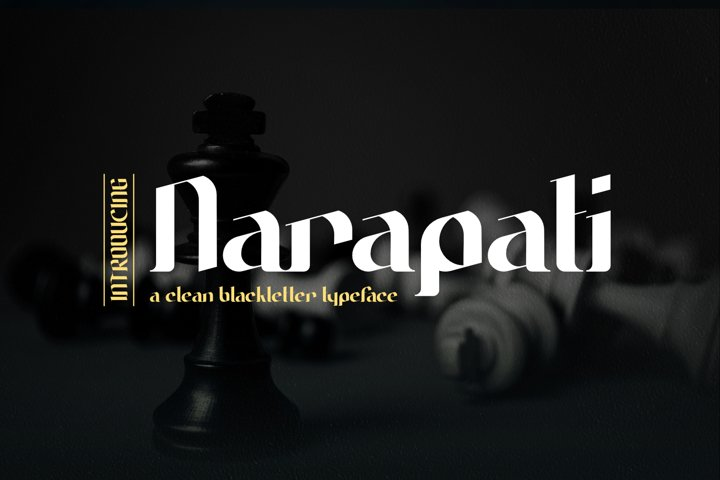 Narapati | A Clean Blackletter Typeface