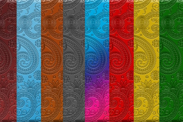 Gradient paisley pressed background
