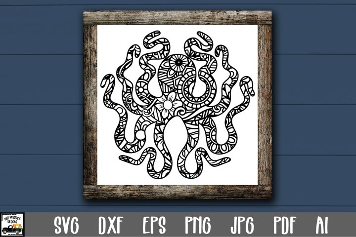 Mandala Octopus SVG File