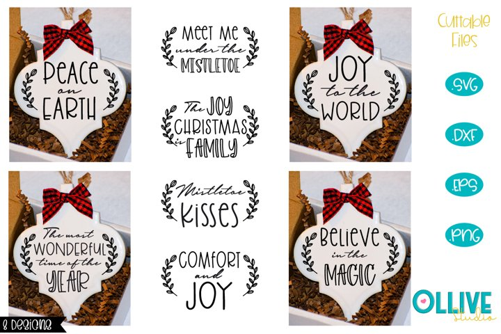 Christmas Ornament Bundle SVG Christmas Arabesque Tile