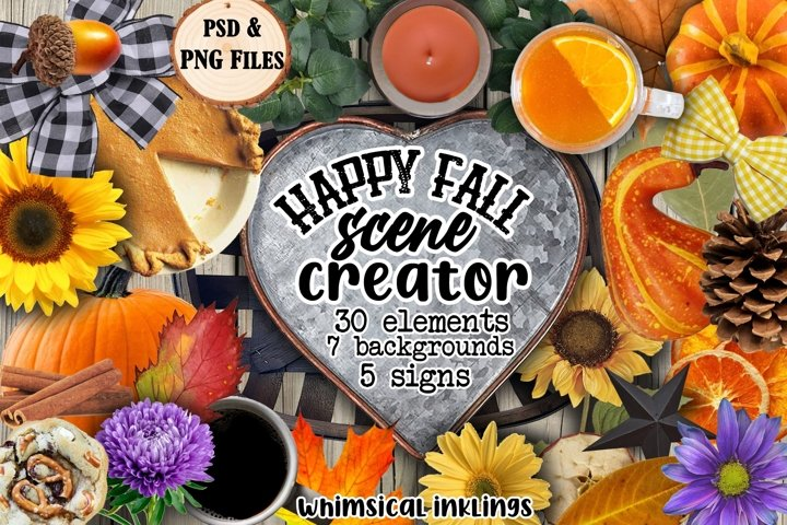 Happy Fall Scene Creator