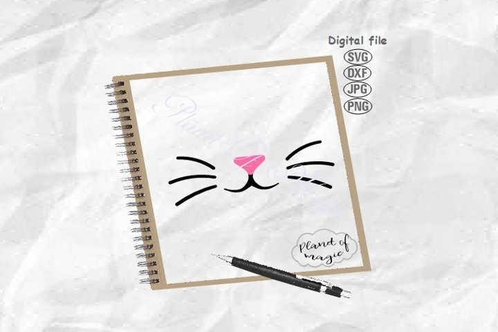 Face Mask Svg, Bunny Face Mask Svg, Whisker Svg, Cat Whisker
