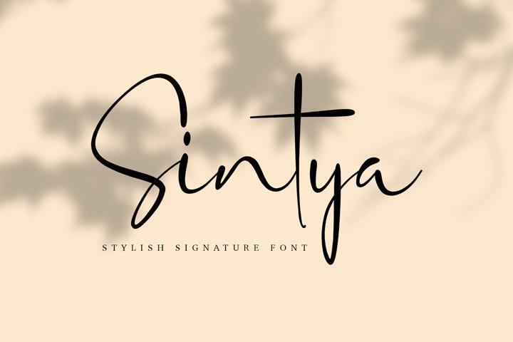 Sintya Stylish Signature Font