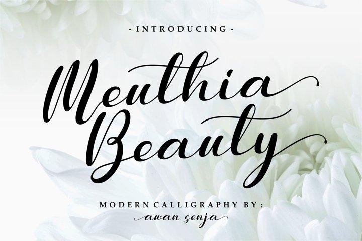 Meuthia - Modern Calligraphy