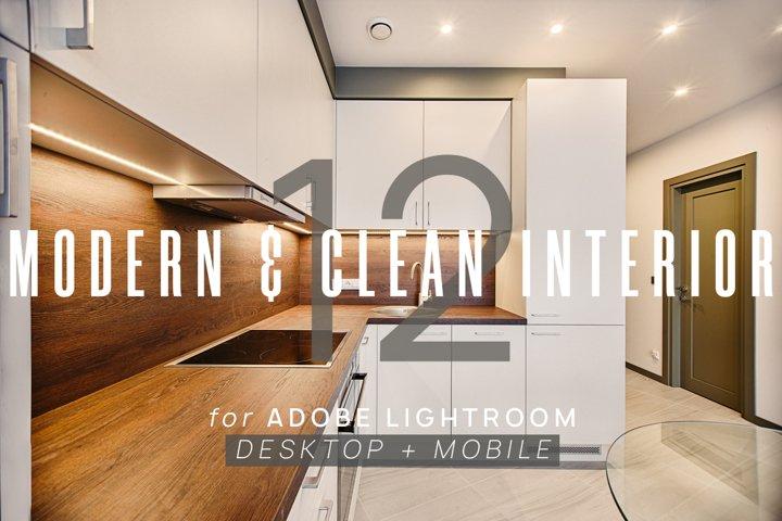 12 Modern & Clean Interior Presets for Lightroom & Mobile