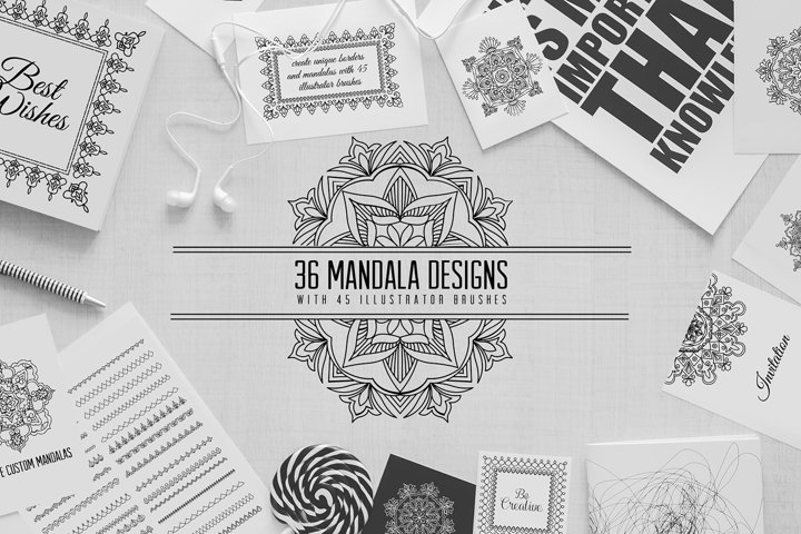 36 mandala designs-45 pattern brushes