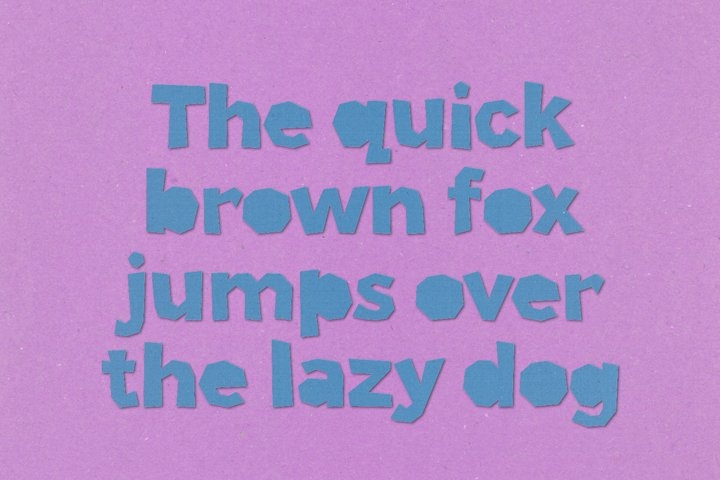 Paper Phil - a papercut craft style font example 9