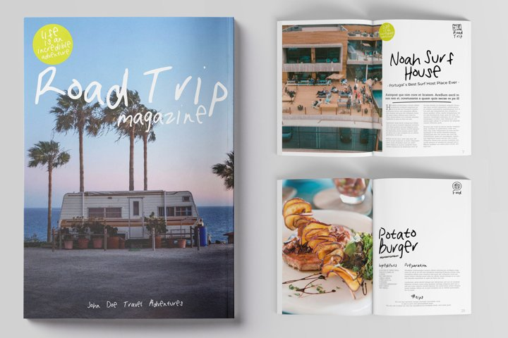 52 pages Road Trip Magazine Template