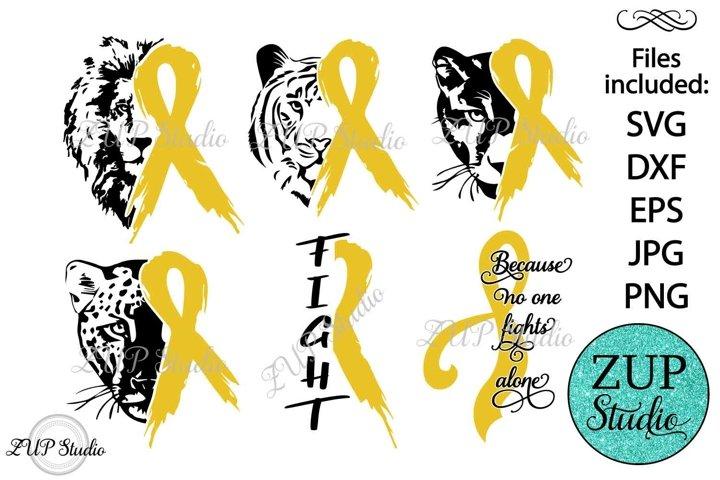 Childhood Cancer Ribbon design 534