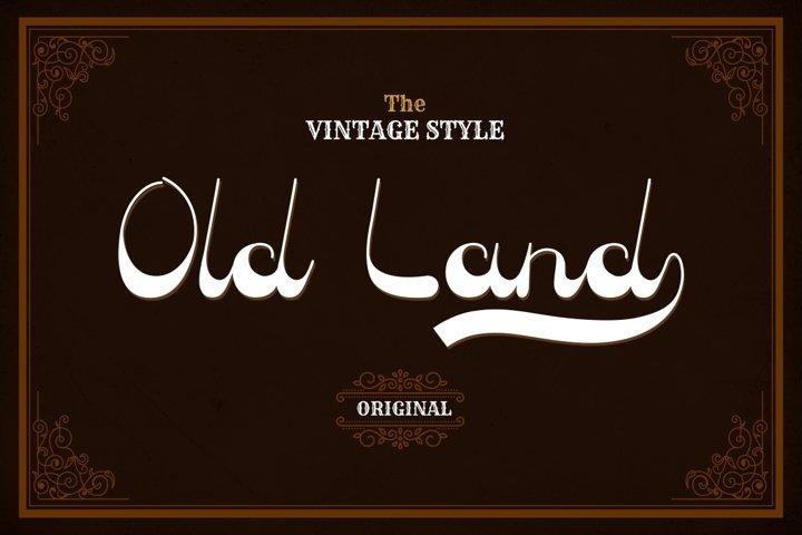 Old Land - Old Vintage Font