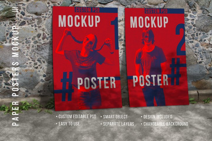 Two Paper posters - Mockup