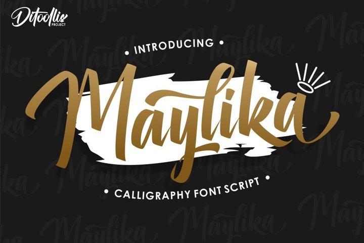 Maylika calligraphy font script
