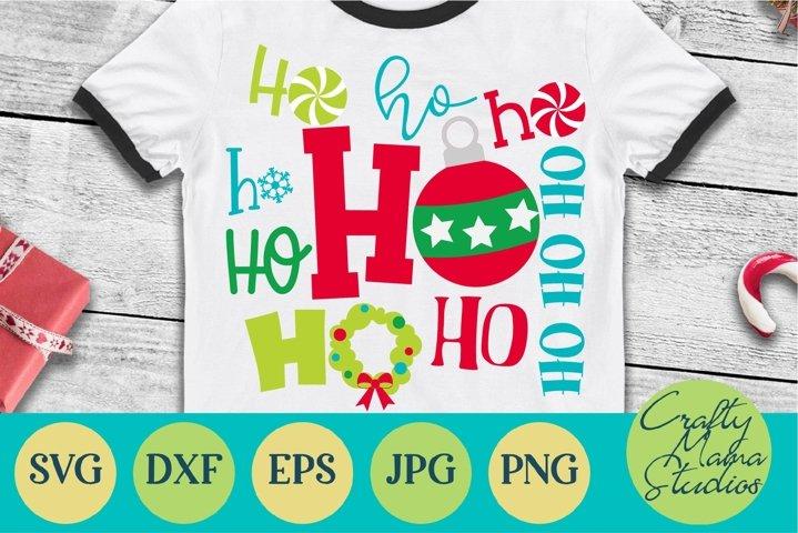 Christmas SVG, Ho Ho Ho Sublimation, Merry Christmas