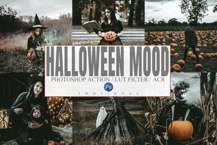 6 Halloween Mood Photoshop Actions, ACR, LUT Presets
