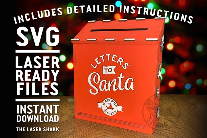 Letters to Santa Mailbox SVG Laser cut files for Glowforge