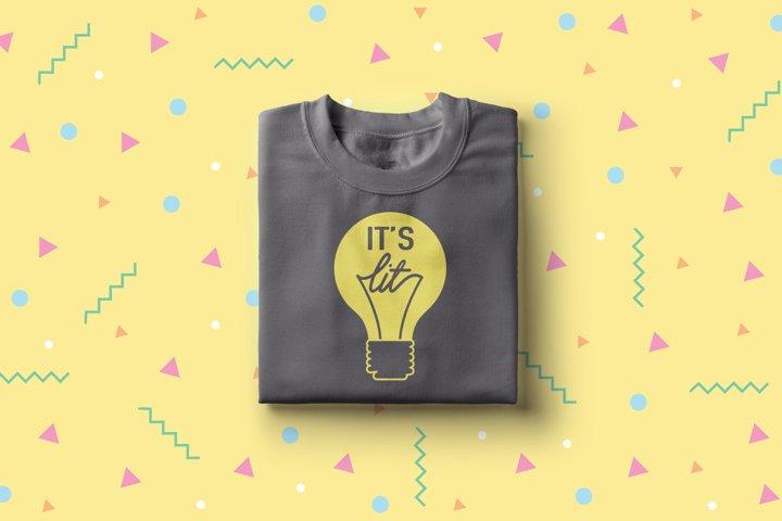 Its Lit Light Bulb SVG File