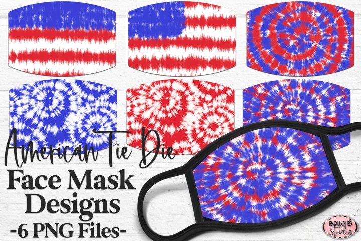 American Tie Dye - Sublimation Face Mask Designs