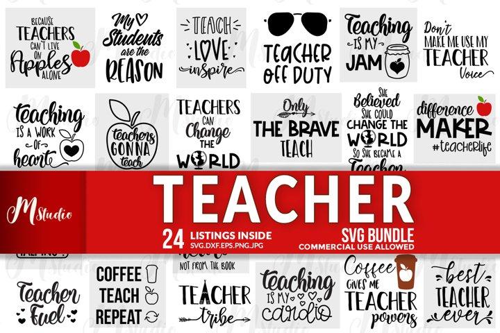 Teacher SVG Bundle.