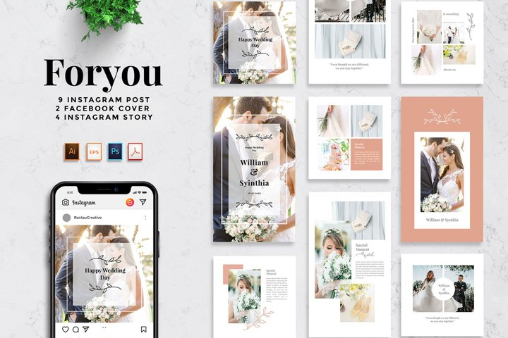 Foryou - Wedding Social media Post Pack