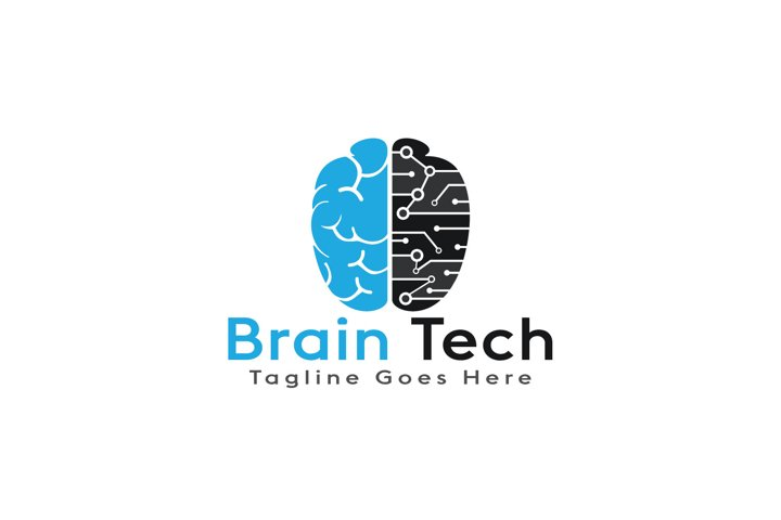 Brain Tech Logo Design.