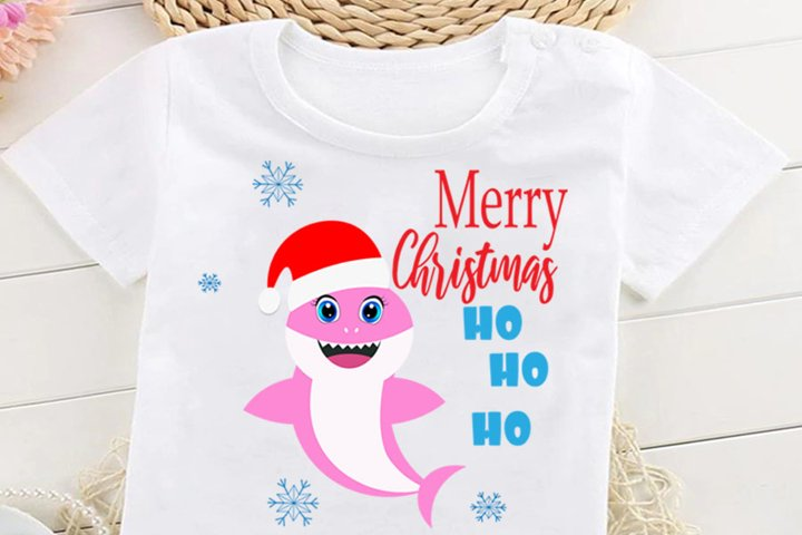 Christmas Shark SVG Cut Files, Merry Christmas Svg