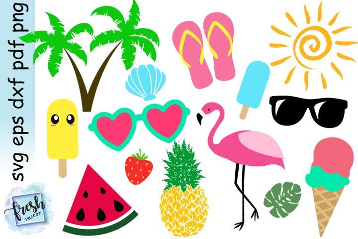Summer Bundle Svg Summer Elements Svg Summer Vibes Svg