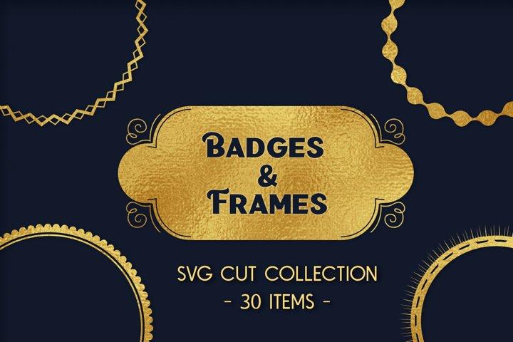 Badges & Frames Bundle - 30 SVG cut files