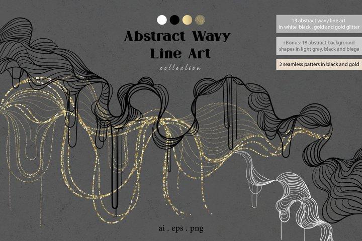 Abstract wavy line art