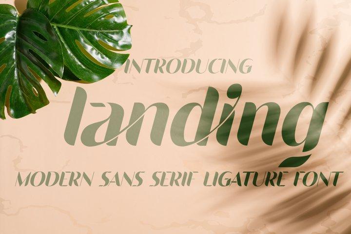 Landing - Ligature Sans Serif Font