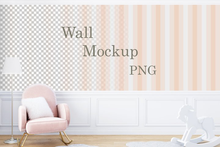 Wall mockup PNG, Kids mockup\159