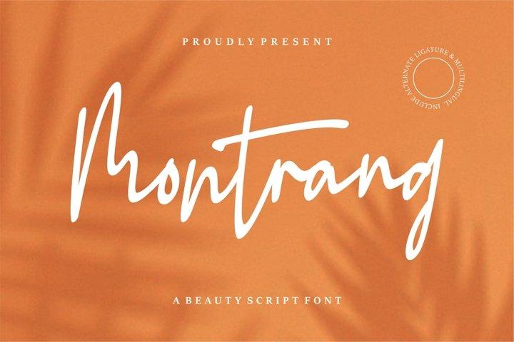 Montrang - A Beauty Script Font