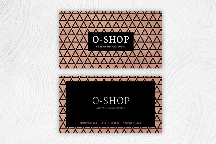 Elegant geometry business card