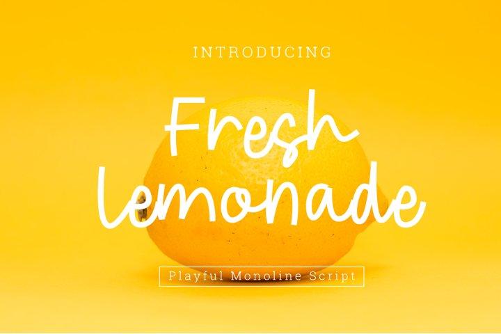 Fresh Lemonade Playful Font Script