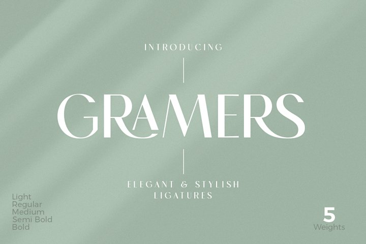 Gramers | Elegant & Stylish Ligatures