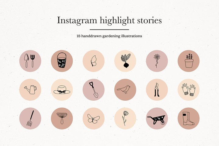 Instagram Gardening Story Highlights Icons Covers