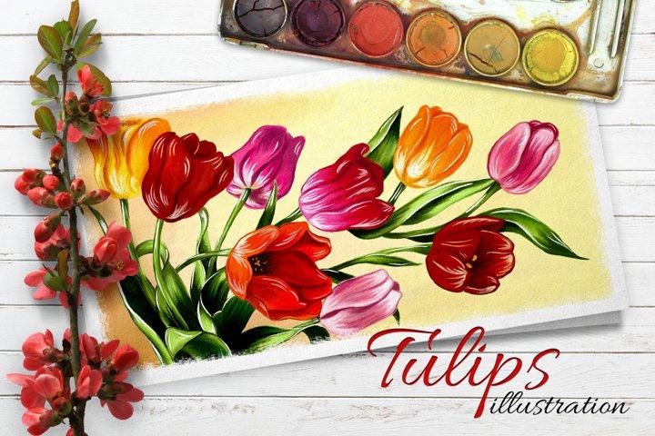 Tulips digital painting example