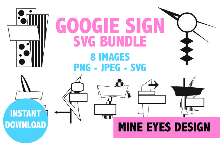 Googie Sign Clipart - Mid Century Modern design icons