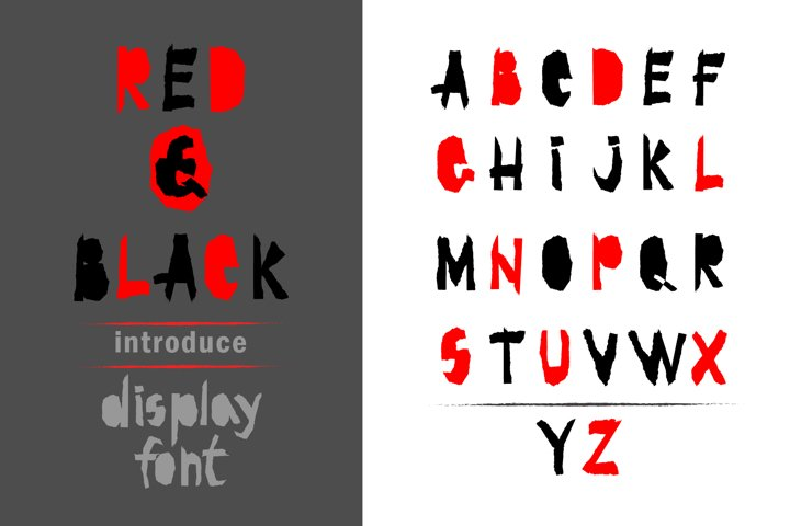 Red-and- Black OTF font
