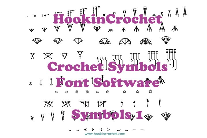 HookinCrochet Symbols 1 Font Software