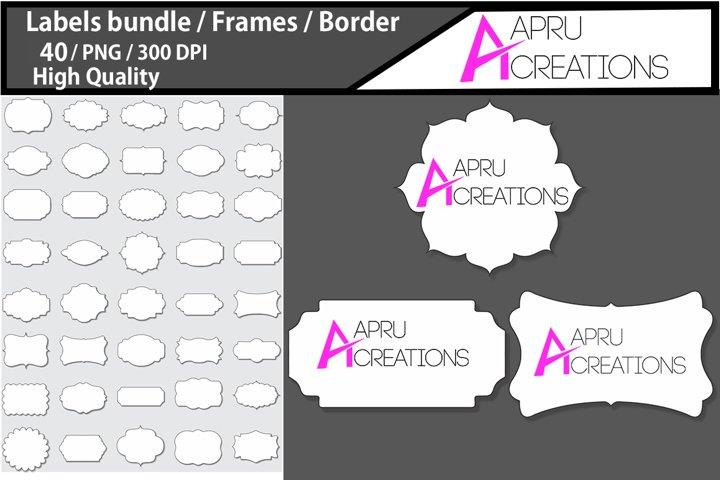 frames and Label 1 line 3D frames clipart / label 3d
