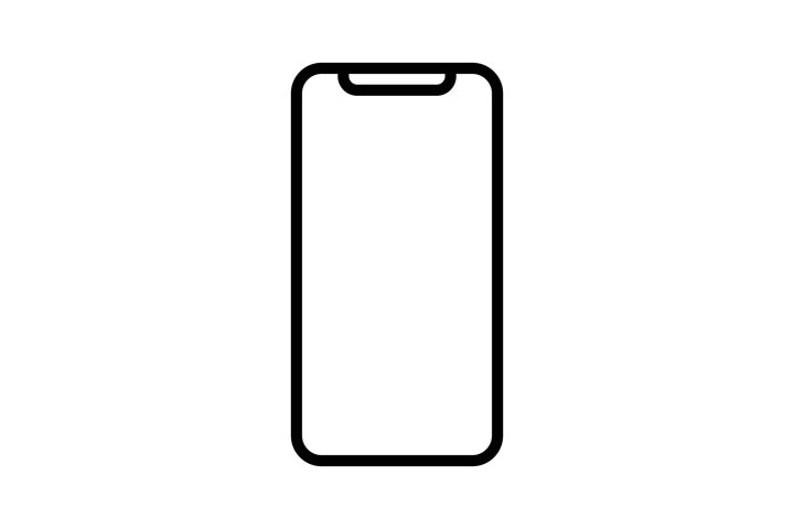 Smartphone vector icon. Phone linear icon isolated