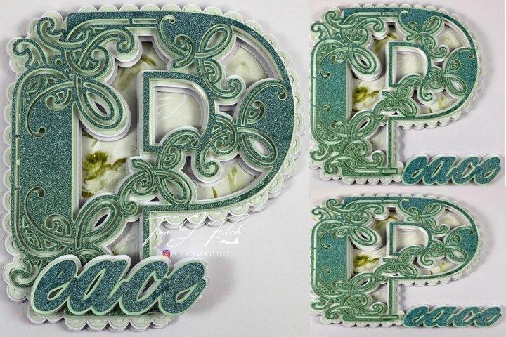 Mandala Peace Card Template TF0300, SVG