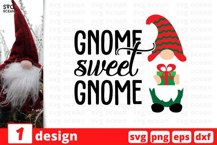 Gnome Sweet Gnome SVG Cut File | Christmas Gnome Cricut