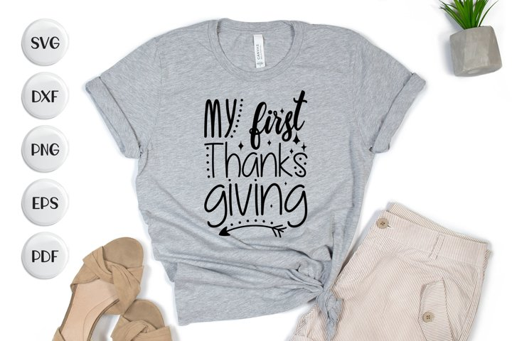 My First Thanks Giving, Thanksgiving SVG Cut File