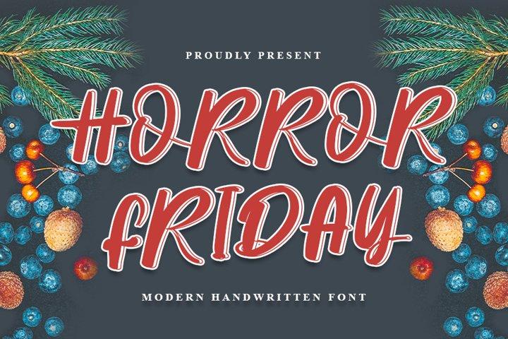 Horror Friday - Modern Handwritten Font