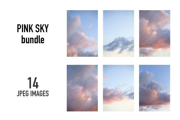 Pink clouds texture BUNDLE | 14 images